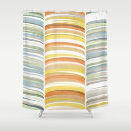 Earth color strokes Shower Curtain