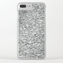 Gray Lake Raindrops Clear iPhone Case