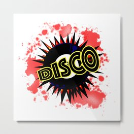 Disco 45 RPM Record Explosion Metal Print