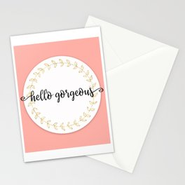 Hello Gorgeous Peach Edition Stationery Cards