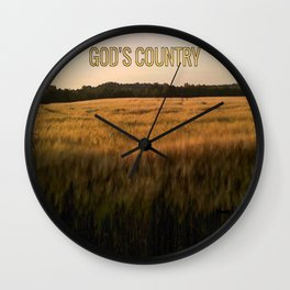 God's Country Wall Clock