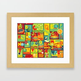 Space Alphabet Framed Art Print