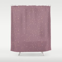 Raspberry Shambolic Bubbles Shower Curtain