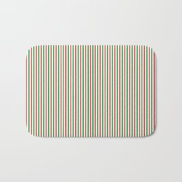 Christmas Time for Stripes Bath Mat