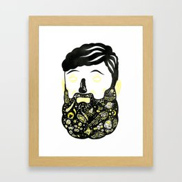 Space Beard Guy Framed Art Print