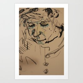 Strings Face Art Print