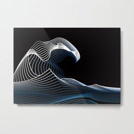 The Minimal Wave off Kanagawa Metal Print