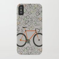 brompton iPhone & iPod Cases featuring Fixed gear bikes by Wyatt Design