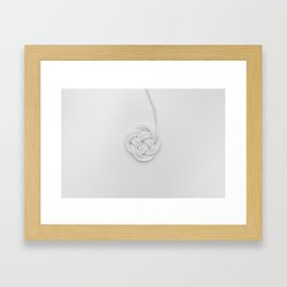 Love me knot Framed Art Print