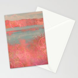 406 2 Coral Waterscape Stationery Cards
