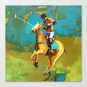 poloplayer abstract turquoise ochre by rheasilviawill
