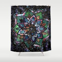 Cosmic Mandala Shower Curtain