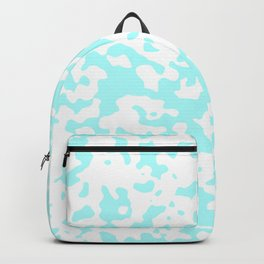Spots - White and Celeste Cyan Backpack