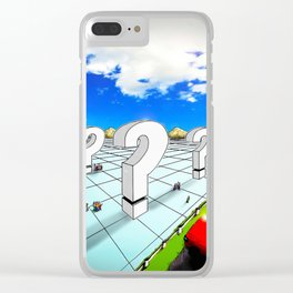 In the Valley of the Big Questions Clear iPhone Case