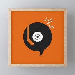 Music Speaks Framed Mini Art Print
