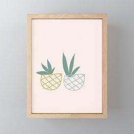 Minimalist House Plants in baskets Framed Mini Art Print