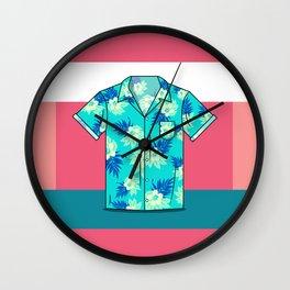 Hawaiian Shirt Wall Clock