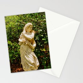 Lady in the garden Stationery Cards