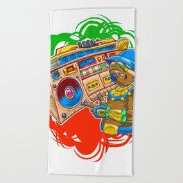 AM Radio Beach Towel