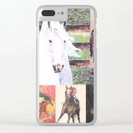 """""""Horse Collage II"""" Clear iPhone Case"""