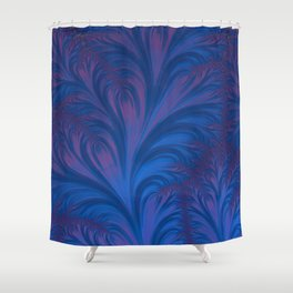 Stacking Hearts - Fractal Art Shower Curtain