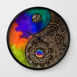 Find Balance YinYang Wall Clock