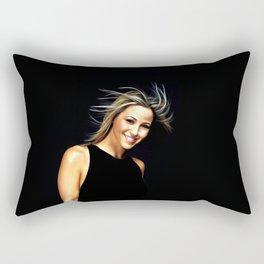 Rachel Stevens - Celebrity Art Rectangular Pillow