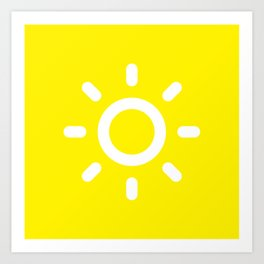 Sun - Better Weather Art Print