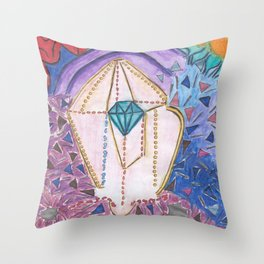 Diamante - rainbow new world Throw Pillow