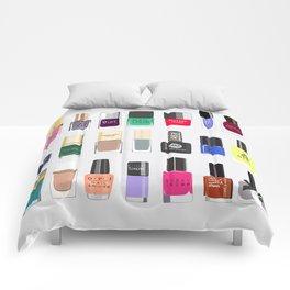 My nail polish collection art print Comforters