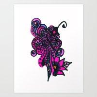 Henna Design 14 Art Print