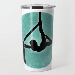 Aerial Silhouette on Paint Travel Mug