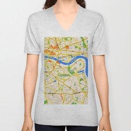 London Map design Unisex V-Neck