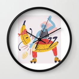 Mad bananas Wall Clock