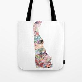 Delaware map Tote Bag