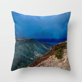 Storm at Sunset in Death Valley, California Throw Pillow