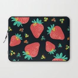 Strawberries   Black Laptop Sleeve