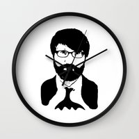 chuck Wall Clocks featuring chuck klosterman by looseleaf