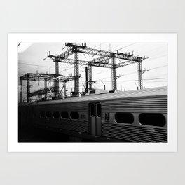 new york train Art Print