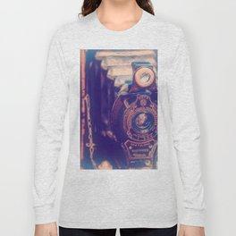Preserving the Past a digital photograph of a vintage folding camera Long Sleeve T-shirt