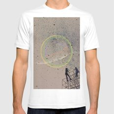sometimes we just need a lift MEDIUM White Mens Fitted Tee