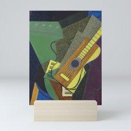 """Juan Gris """"Guitare sur une table (Guitar on a table)"""" Mini Art Print"""