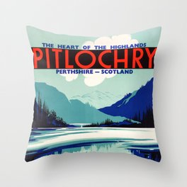 Pitlochry Heart Of The Highlands Throw Pillow