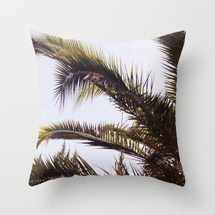 Palm Tree Leaf Me Throw Pillow