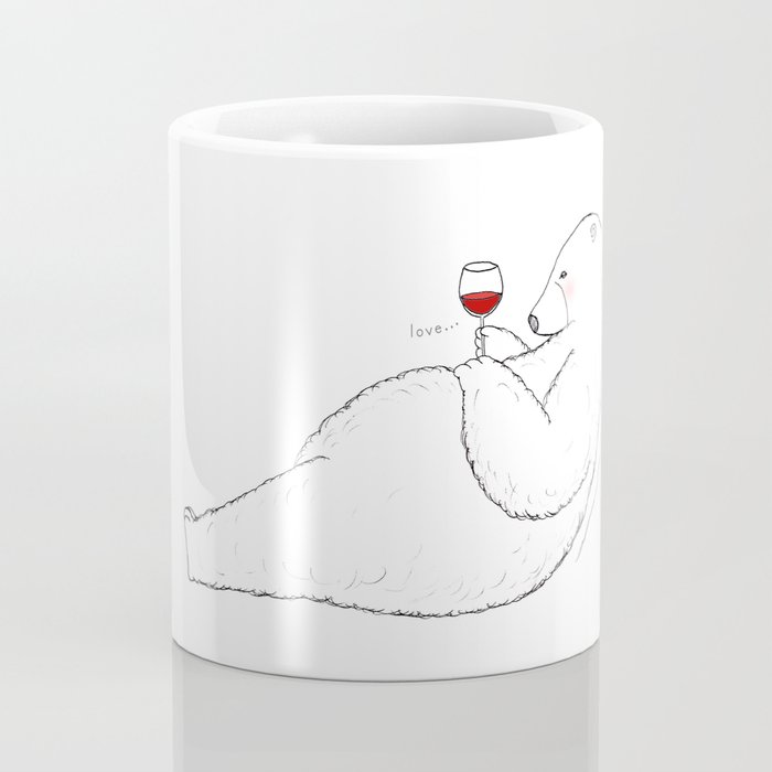 love bear with wine Coffee Mug