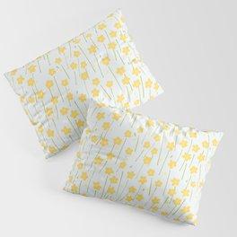 Buttercup Field M+M Evergreen by Friztin Pillow Sham