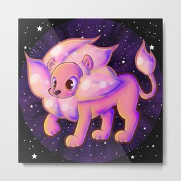 Space Lion Metal Print