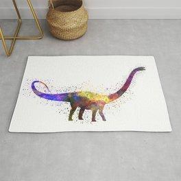 Diplodocus dinosaur in watercolor Rug