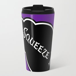 """Squeeze Me"" Alice in Wonderland styled Bottle Tag Design in 'Shy Violets' Travel Mug"