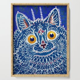 Blue Cat Serving Tray